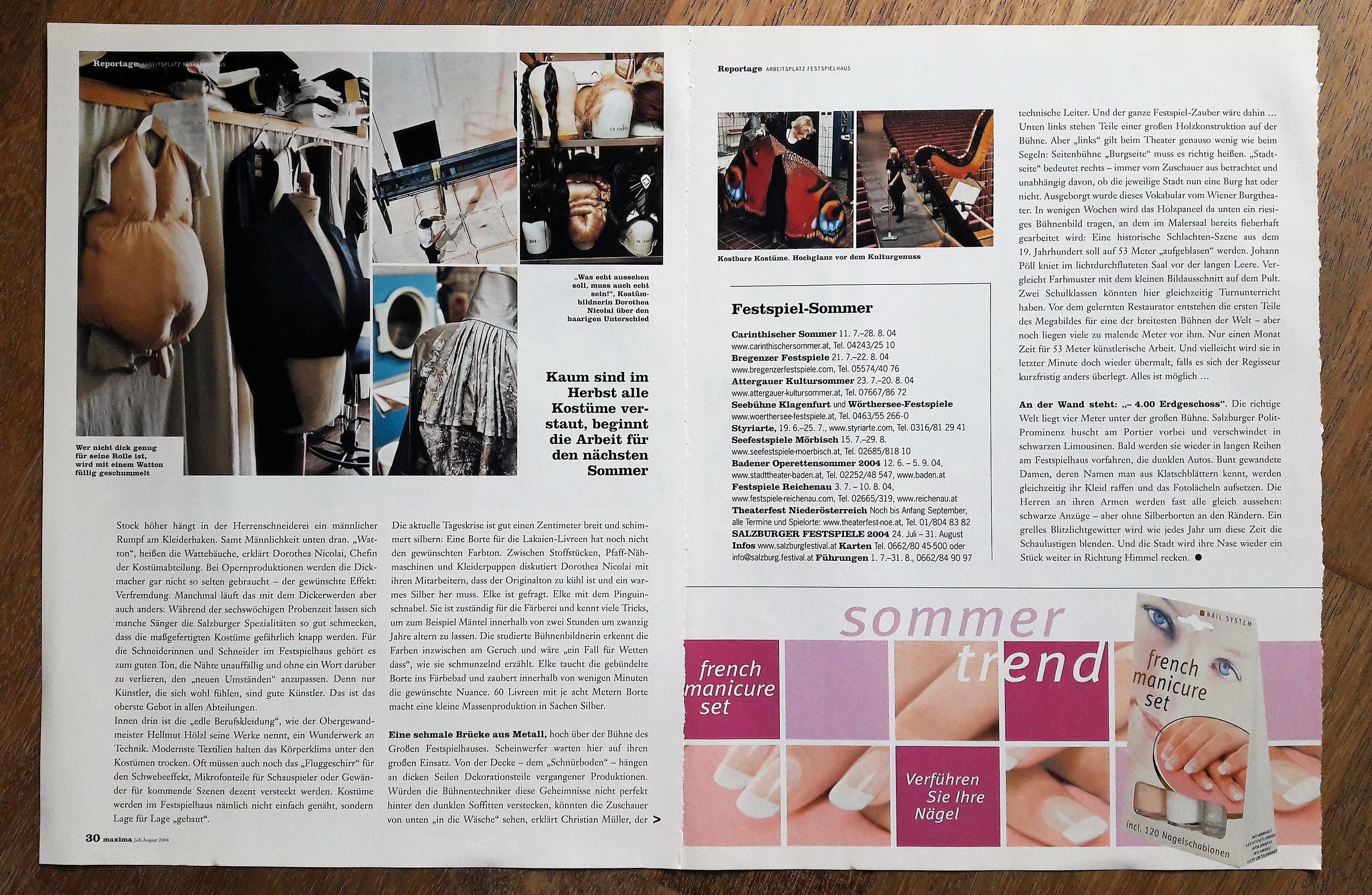Arbeitsplatz Festspielhaus_Reportage_maxima 082004_m kaltenstein_S 2