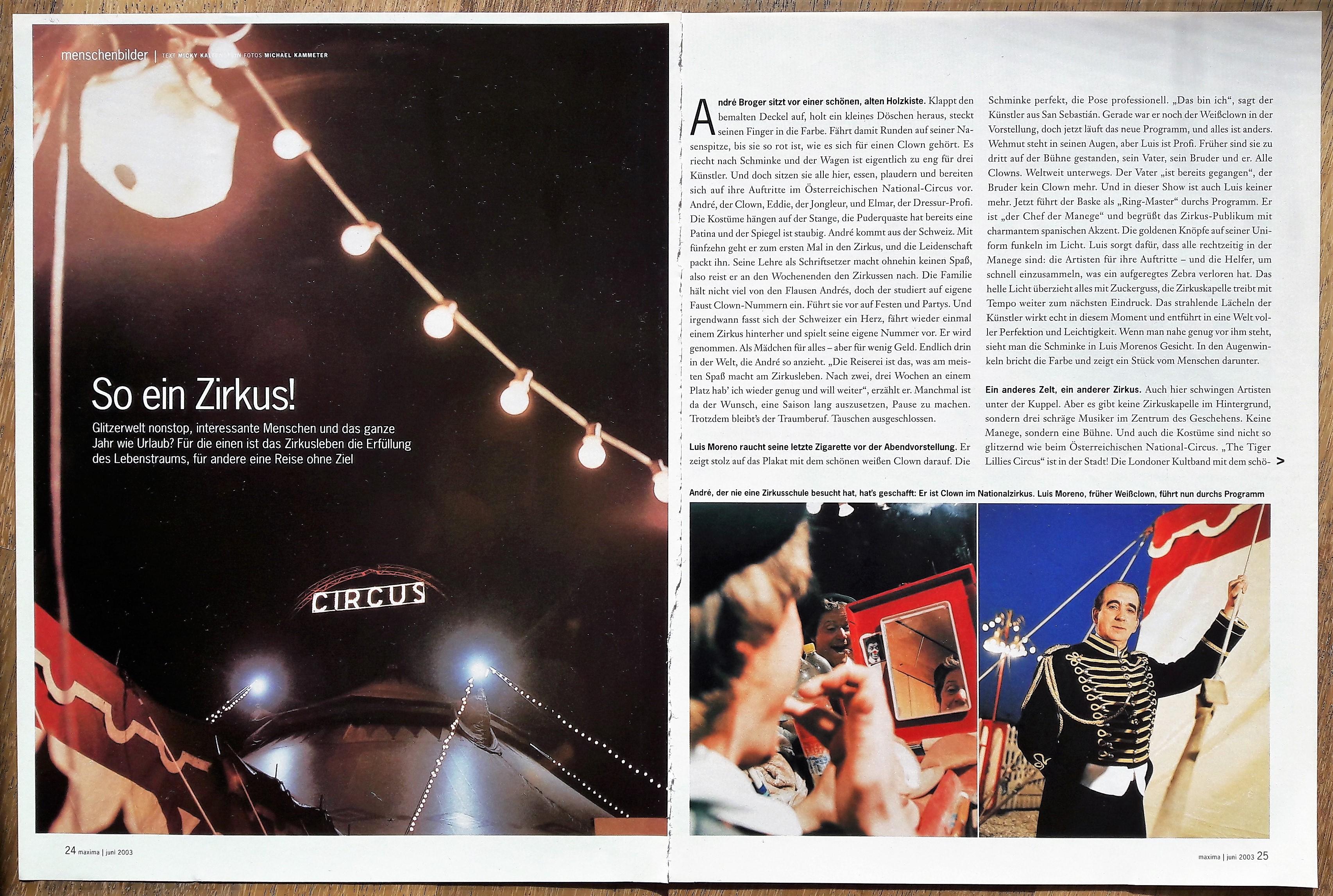 So ein Circus_Reportage Maxima 062003_m kaltenstein_S1